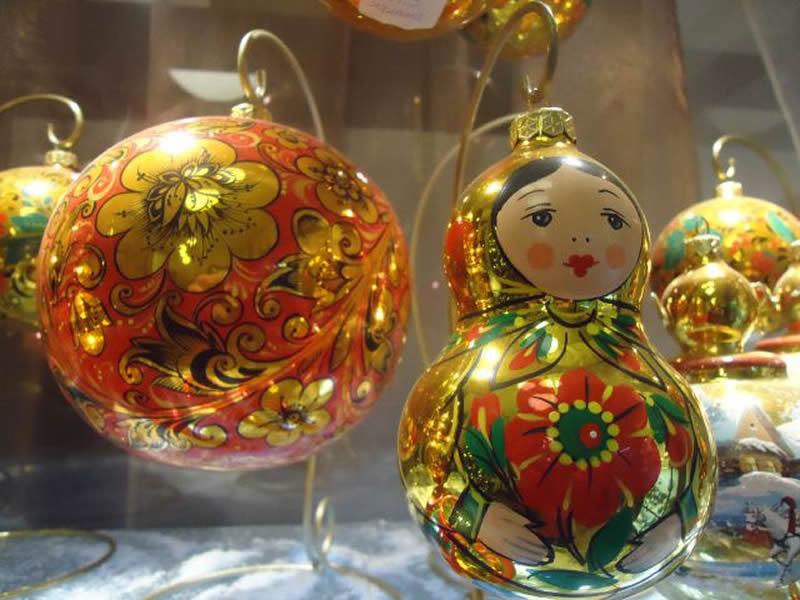 Русская новогодняя иНовогодние игрушки своими руками на